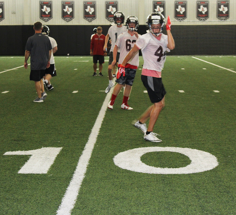 Lovejoy Leopards Freshmen practiced a week before the rest of the team reported for practice.