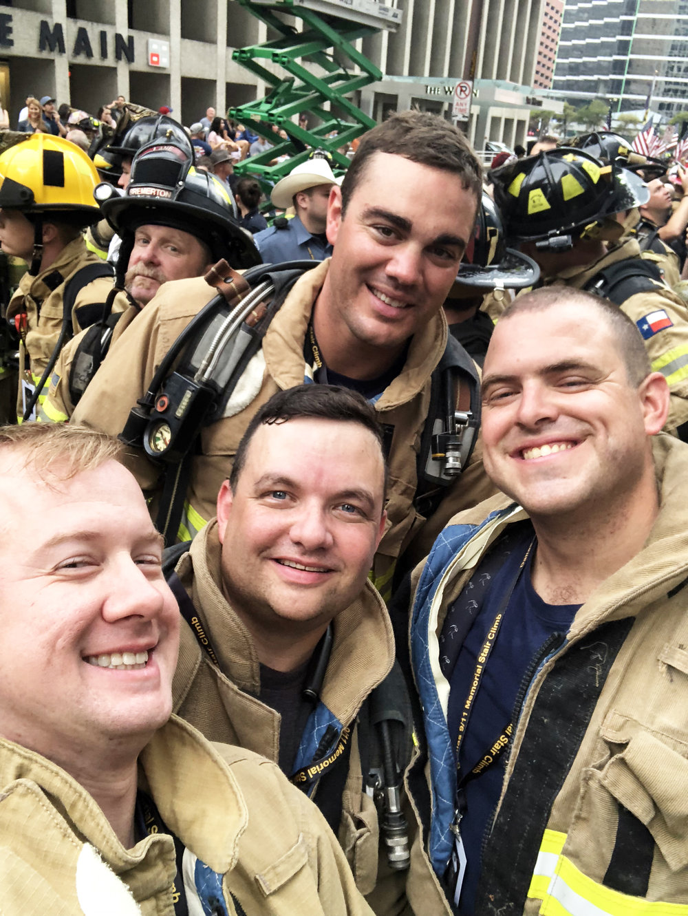 Members of Lucas Fire Rescue Department after they completed the Dallas Stair Climb. (Photo provided by Lucas FRD.)