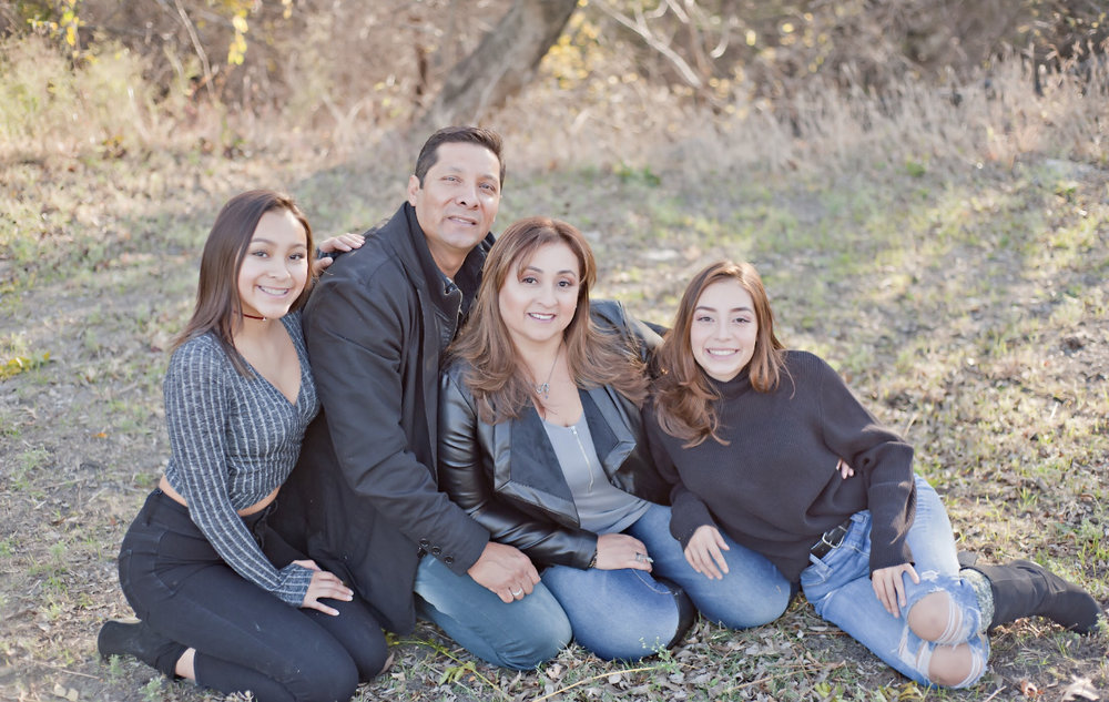 The Montalvo Family (from left) Melannie, Felipe, Rocio and Debbie.