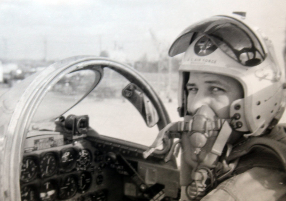 McCarter in a T-33 about to fly. (Photo taken in 1958, Cape Neweham, Alaska.)