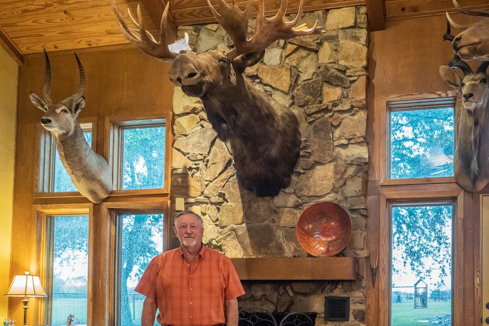 John Martin in his Lucas home