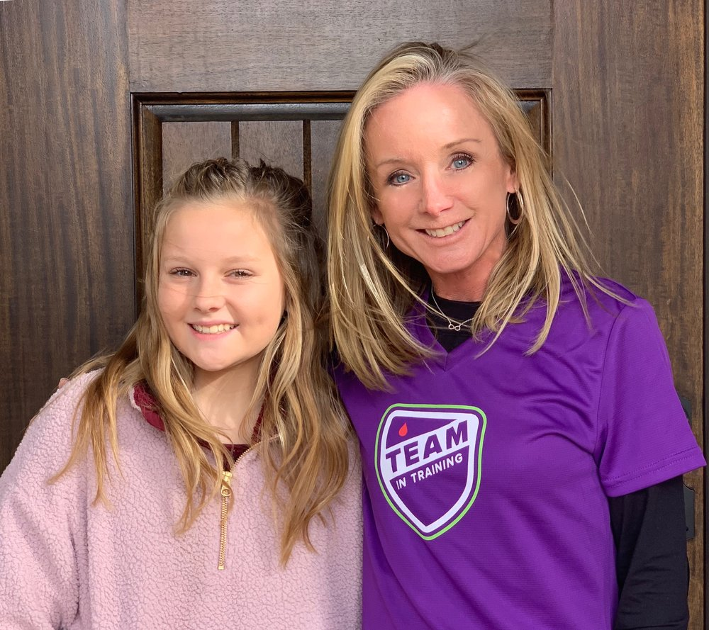 (From left) Mallory Cass and Tracy Sutherlin. Mallory is a 7th grader at Willow Springs Middle School and was diagnosed with Childhood Acute Lymphoblastic Leukemia (ALL) in 2014.