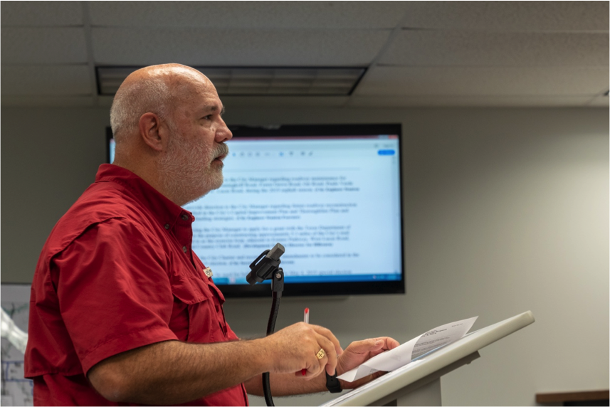 Stanton Foerster, City Engineer, briefs the City Council regarding twelve potential roadway reconstruction projects that have been identified. The estimated cost of all twelve projects is $46 million forcing the City Council to establish a long-term prioritization of the projects.