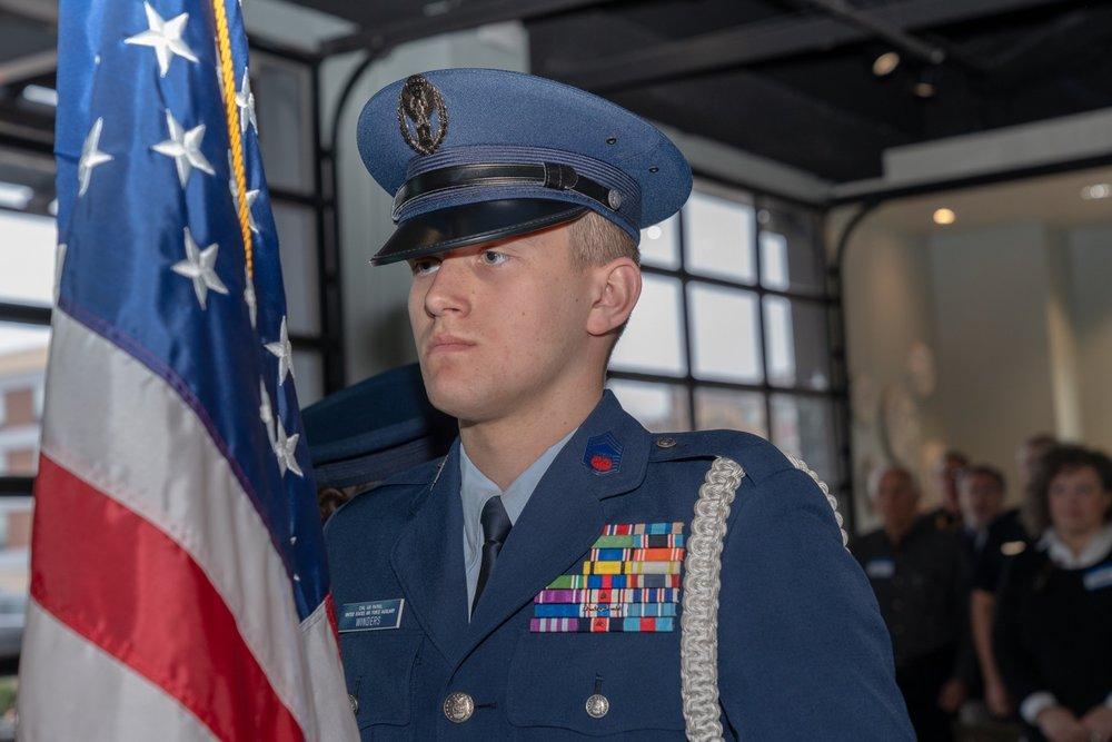 Civil Air Patrol squadron presented the colors.