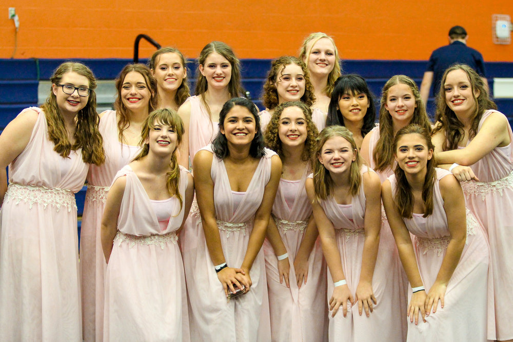 The Color Guard team poses for a picture after the award ceremony.