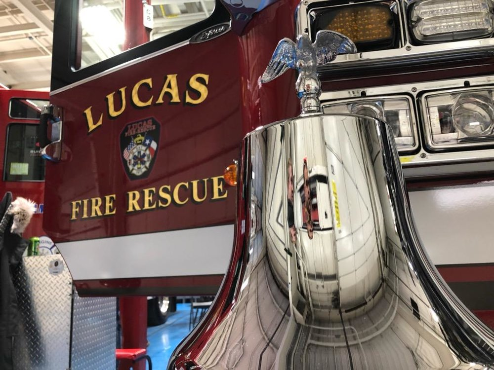 The new fire engine should arrive next month. It will sport an eye-catching paint scheme. Lucas FR provided sneak-peek photos before the big reveal.