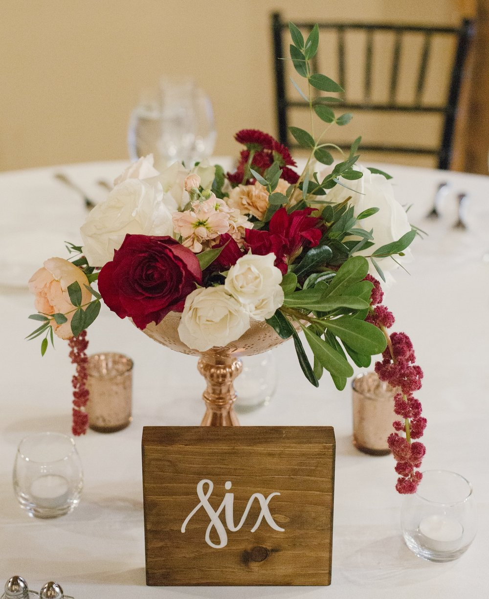 TABLE NUMBERS -