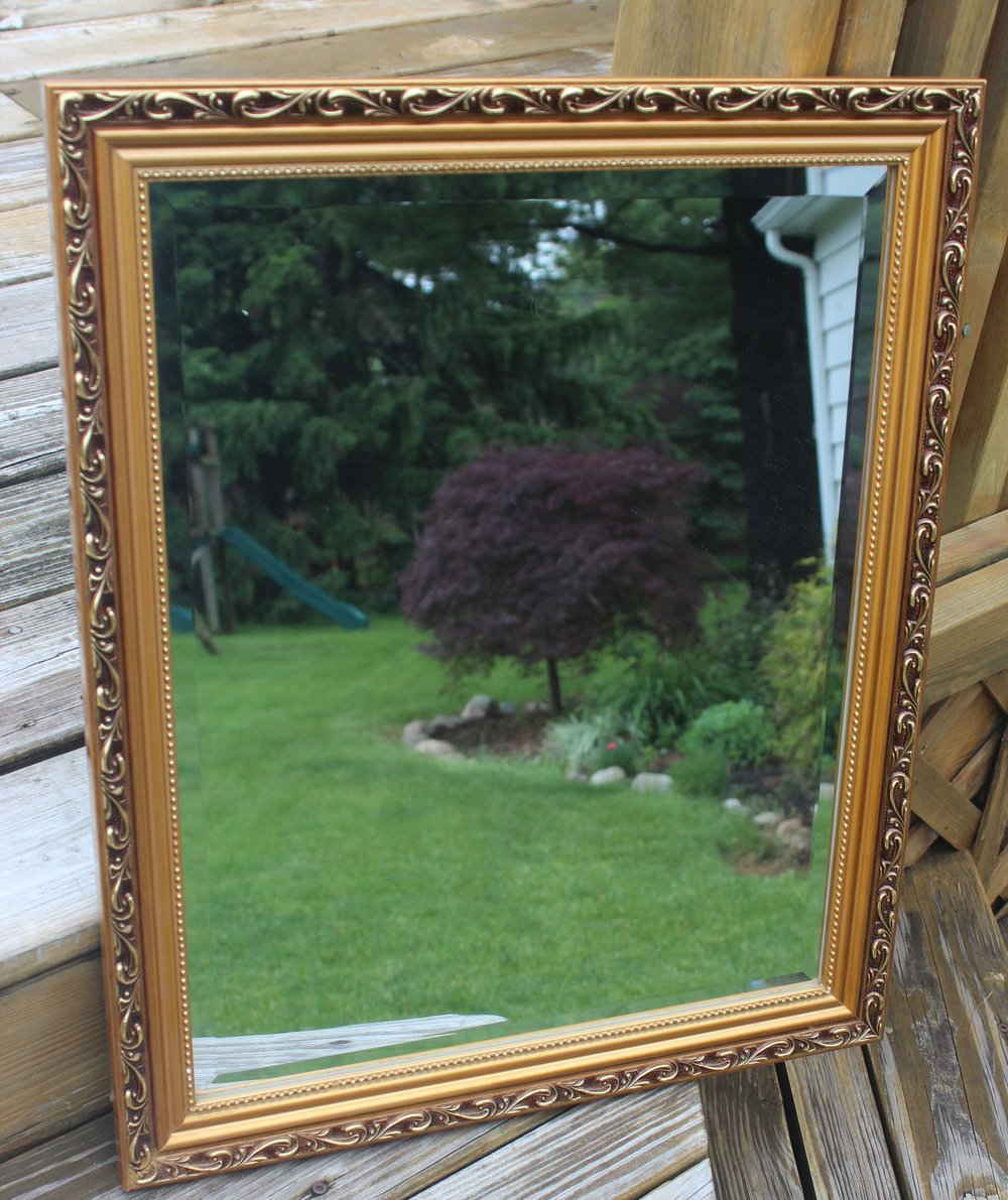 Gold Mirror 5 - 1ft W x 1.5ft H