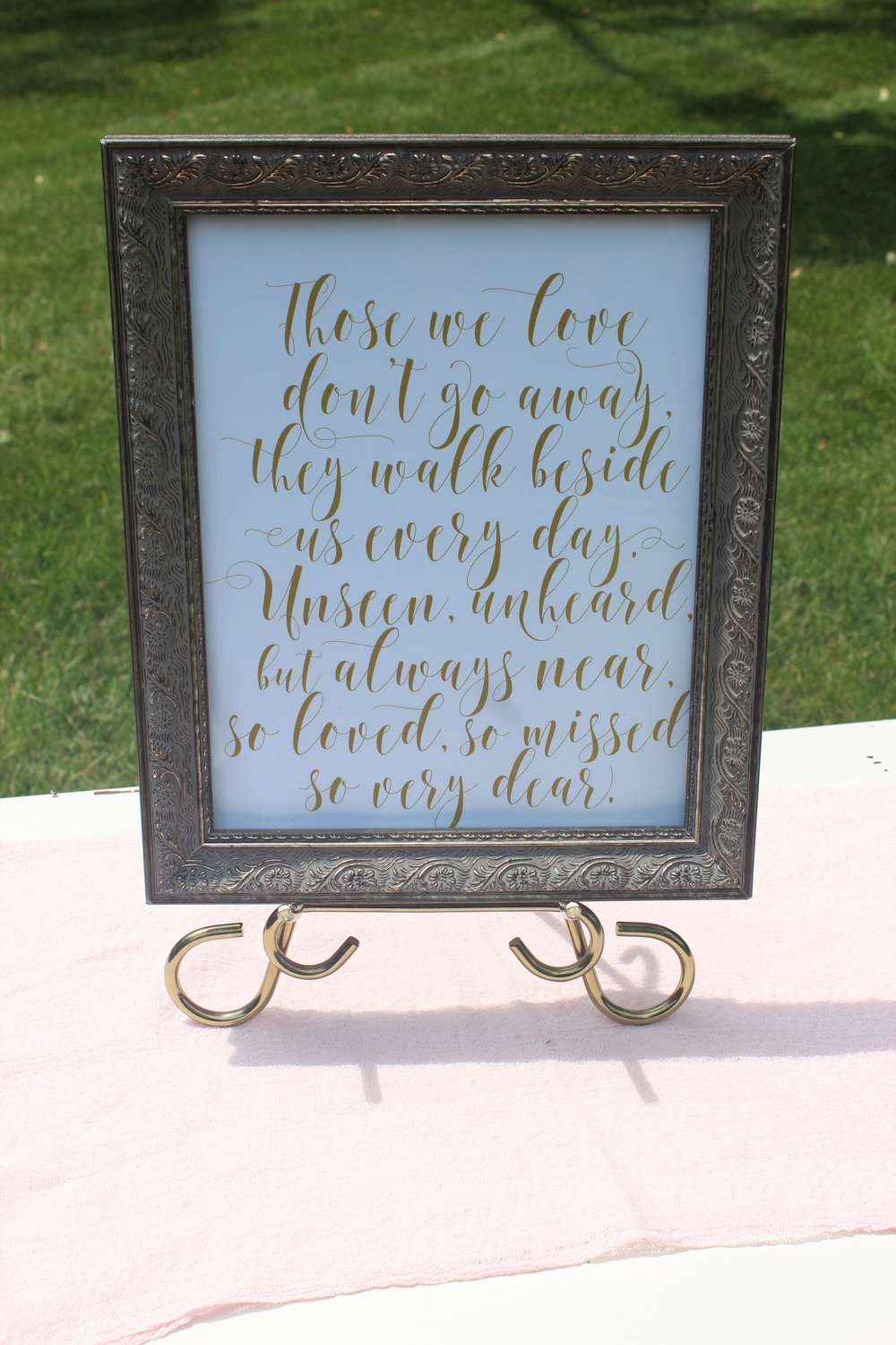 Memory Table Sign