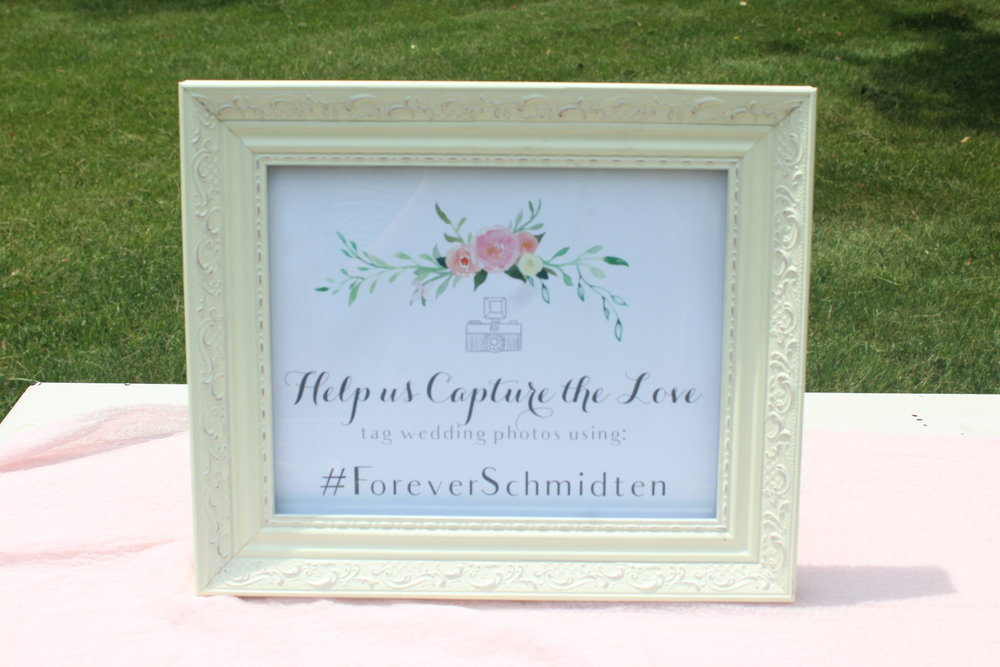 White Frame for Hashtag Sign