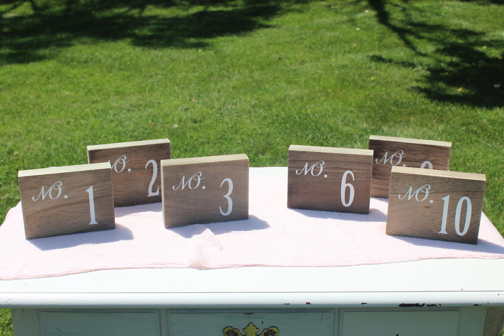 Small Wood Block Numbers - Numbers 1-10