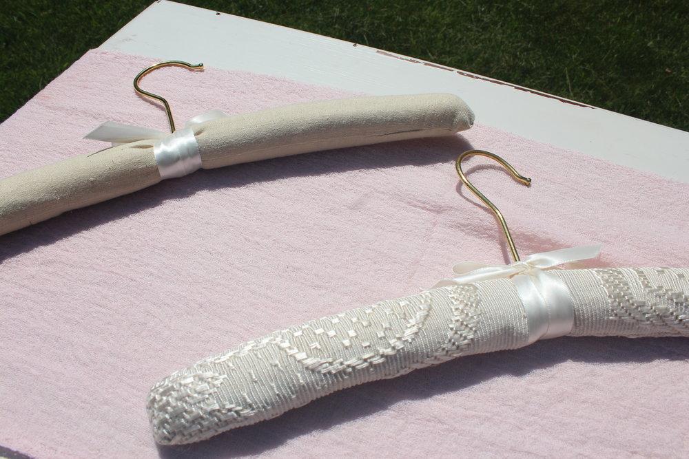 Wedding Dress Hangers - Close Up