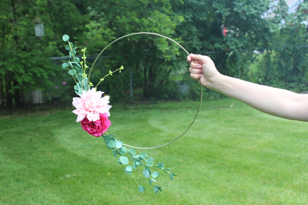 Small Floral Hoop