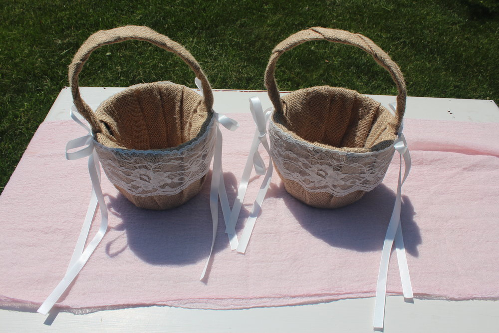 Flower Girl Baskets - Qty 2
