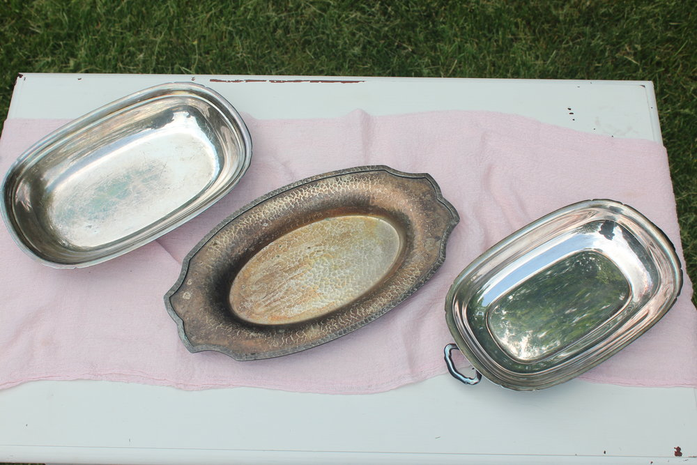 Antiqued Silver Platters