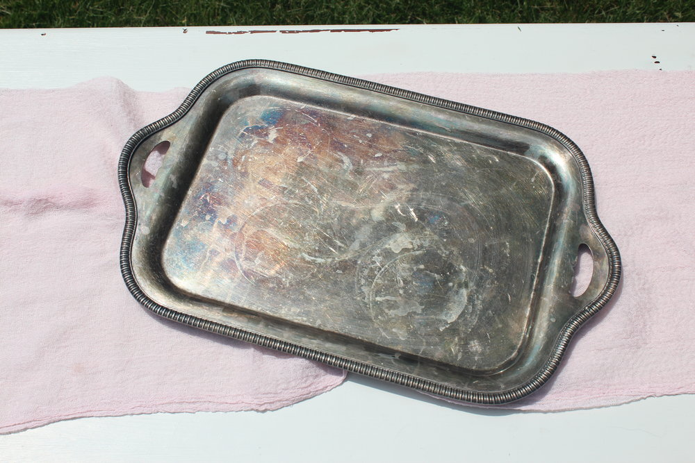 Antiqued Silver Tray 1