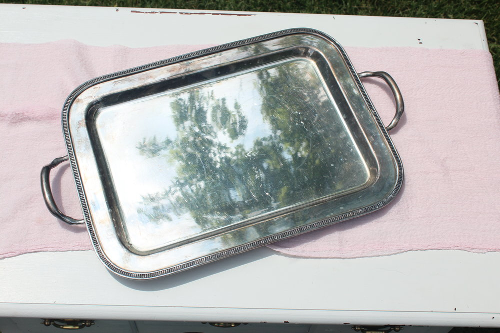 Antiqued Silver Tray 2