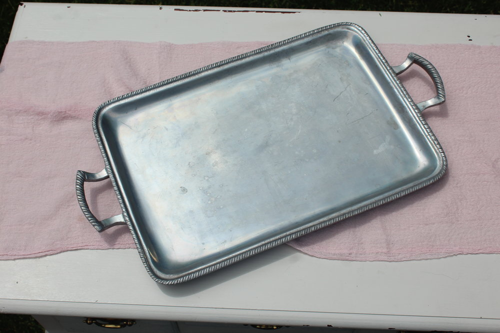 Antiqued Silver Tray 3