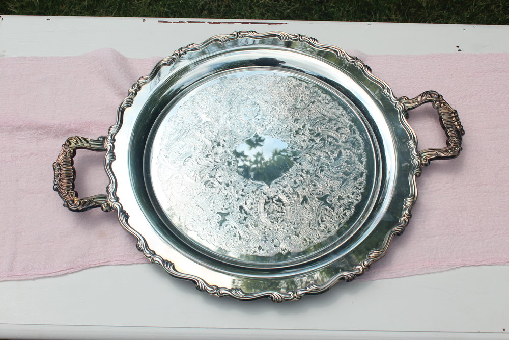 Antiqued Silver Tray 4