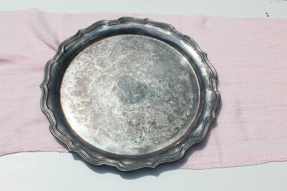 Antiqued Silver Tray 6