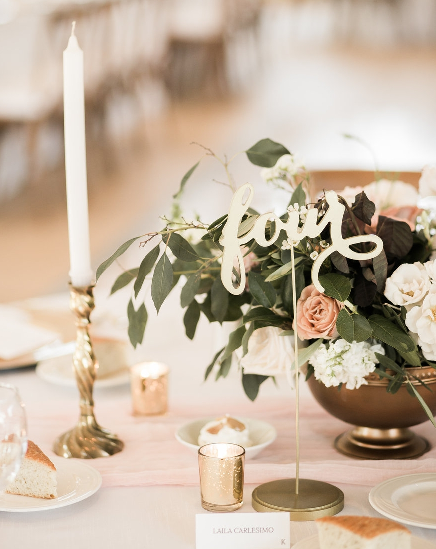 Gold Table Numbers - Number 1 -21