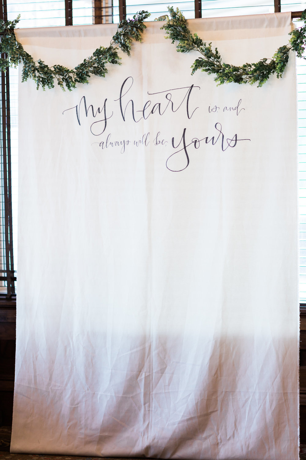Backdrop - My Heart is and always will be yours - perfect for a photobooth or ceremony