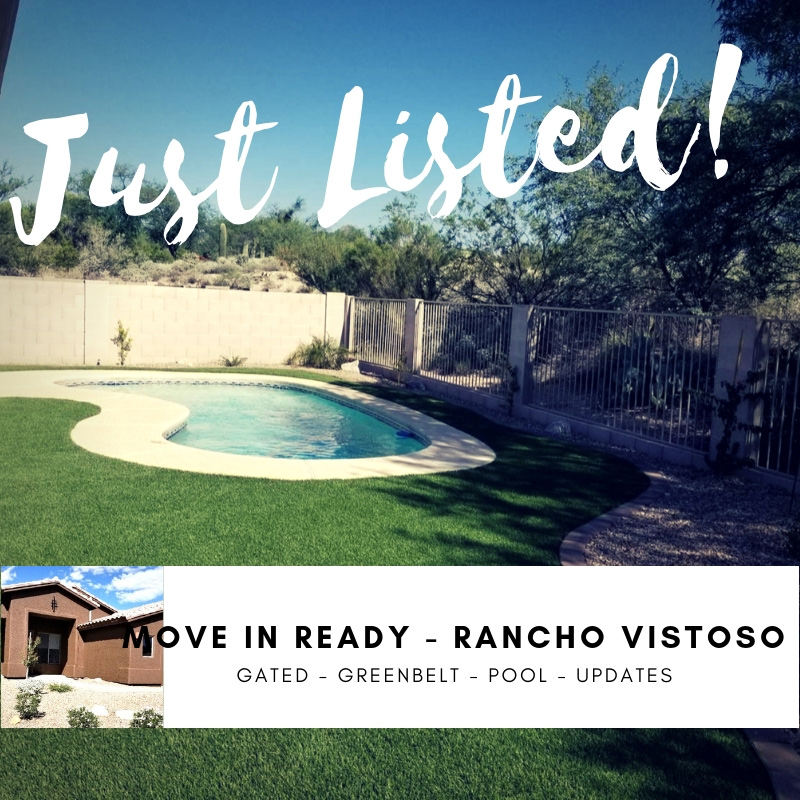 PRICE REDUCED - Truly move-in ready + gated + pool + greenbelt! Text/email/call me to view:520-870-5114