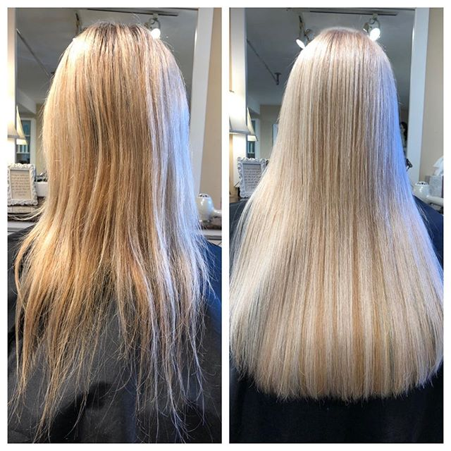 Blessing your feed this #transformationtuesday with a gorgeous before and after using HotHeads hair extensions and Alfaparf color 🤗 . . . #tovanihair #extensionspecialist #damagedhair #blondehighlights #longhair #millvalley #marincounty #hotheadshairextensions #alfaparf #hairextensions #healthyhair #blondehair #hairgoals #hairstylist #hairdresser #haircolor #haircut #hairenvy #gorgeous