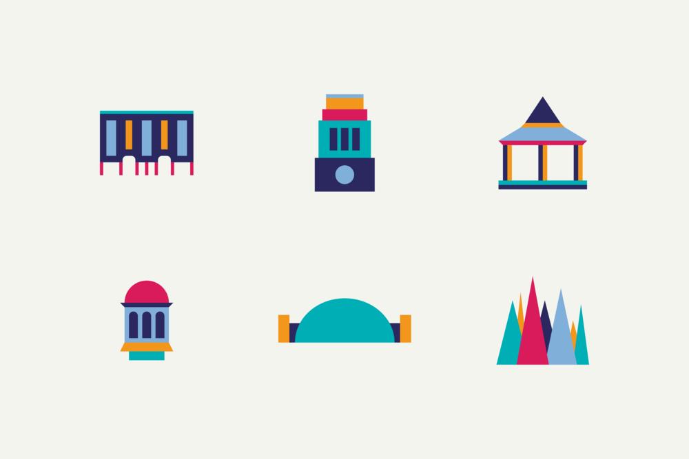 Designs for other landmarks