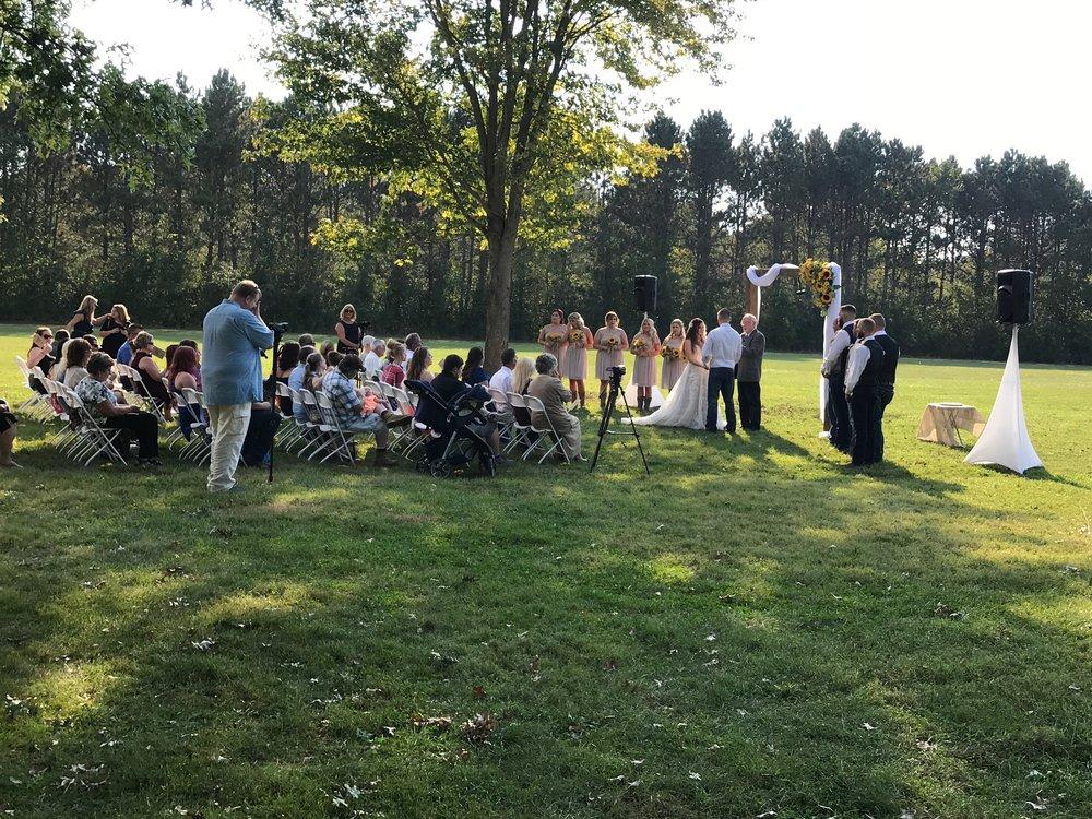 outdoor Wedding ceremony services quad cities
