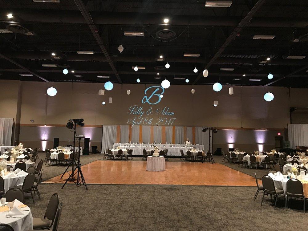 Wedding venue decor Quad Cities