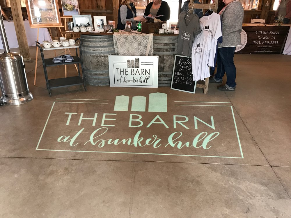 Corporate event monogram light The Barn