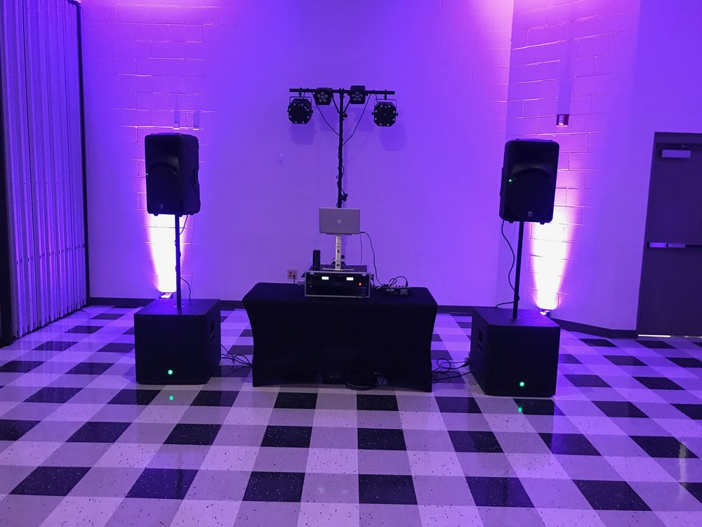 Professional wedding DJ setup