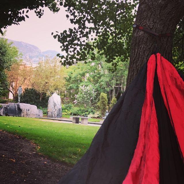 View from my hammock! #naptime #sprinklingrain #relaxingmode #lastfewdaysbeforeschool #winteriscoming #ihatewinter #summerisover