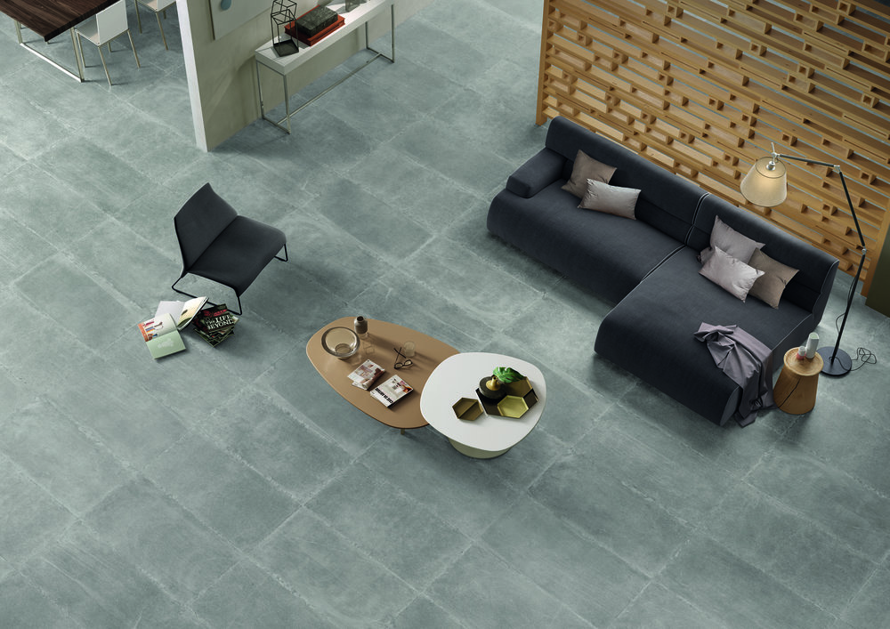 Living Spaces - A tiled living room or great room is perfect for families with young children and pets. Tile holds up to every day life for years.