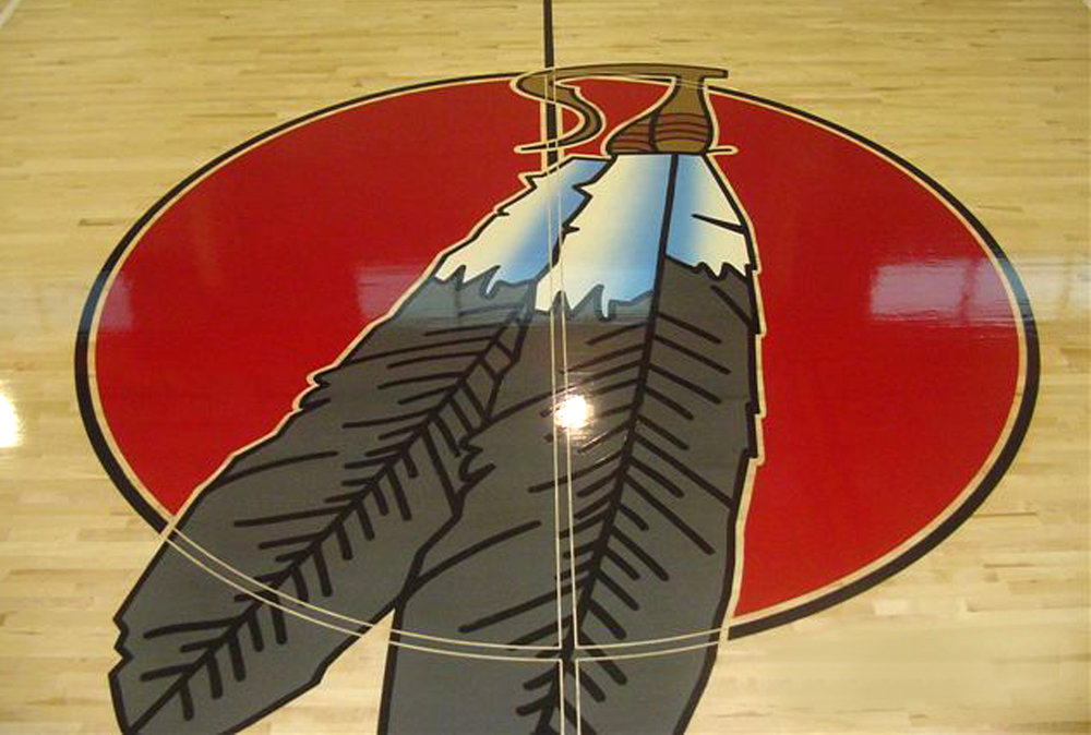 HAND PAINTED GYM FLOOR GRAPHICS… - On wood and epoxy floors, we've done a lot of them: schools, colleges, and universities; commercial gyms and dojos. Detailed or simple, these can be a wonderful focal point for your gym.