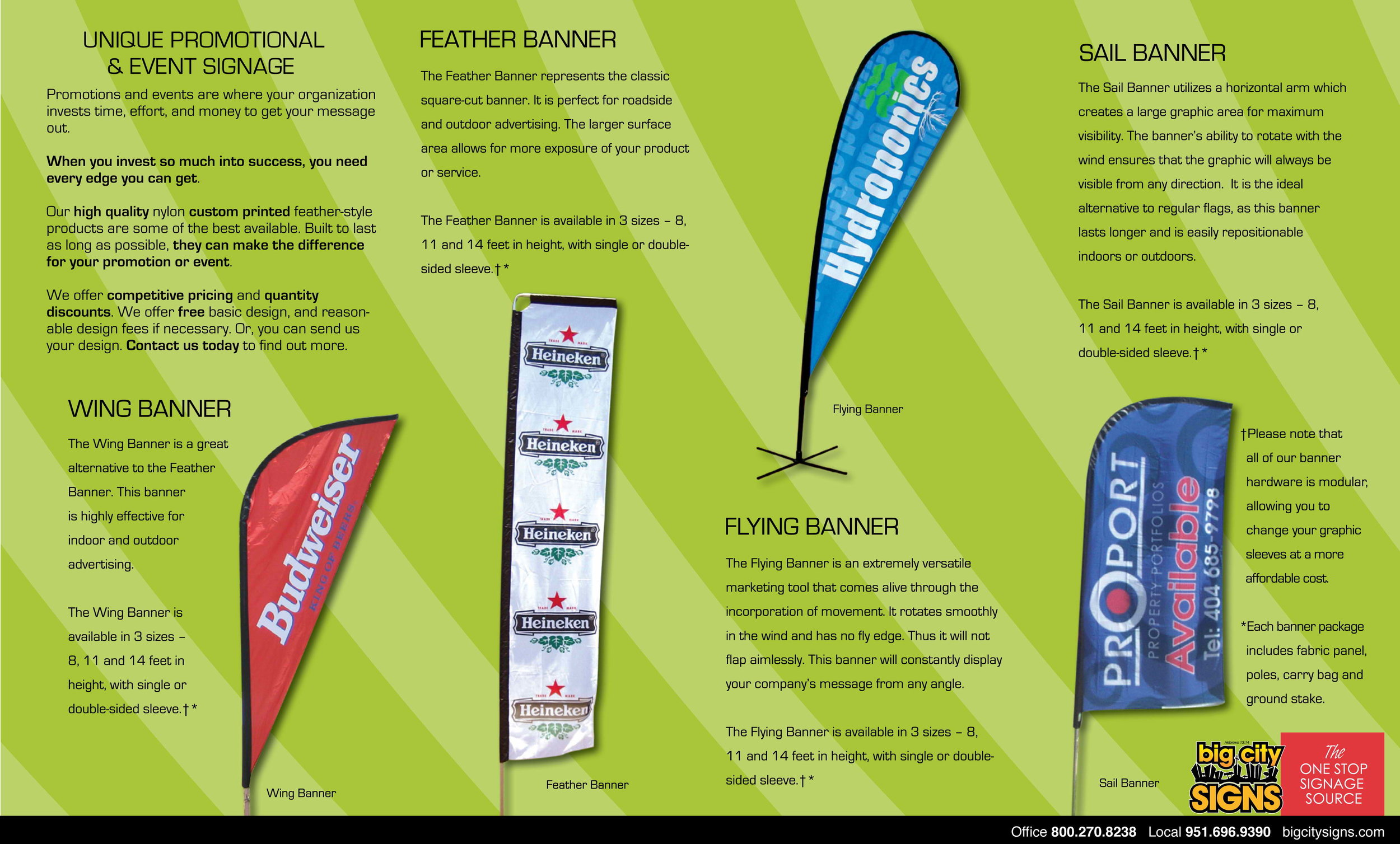 Feather style nylon banners…