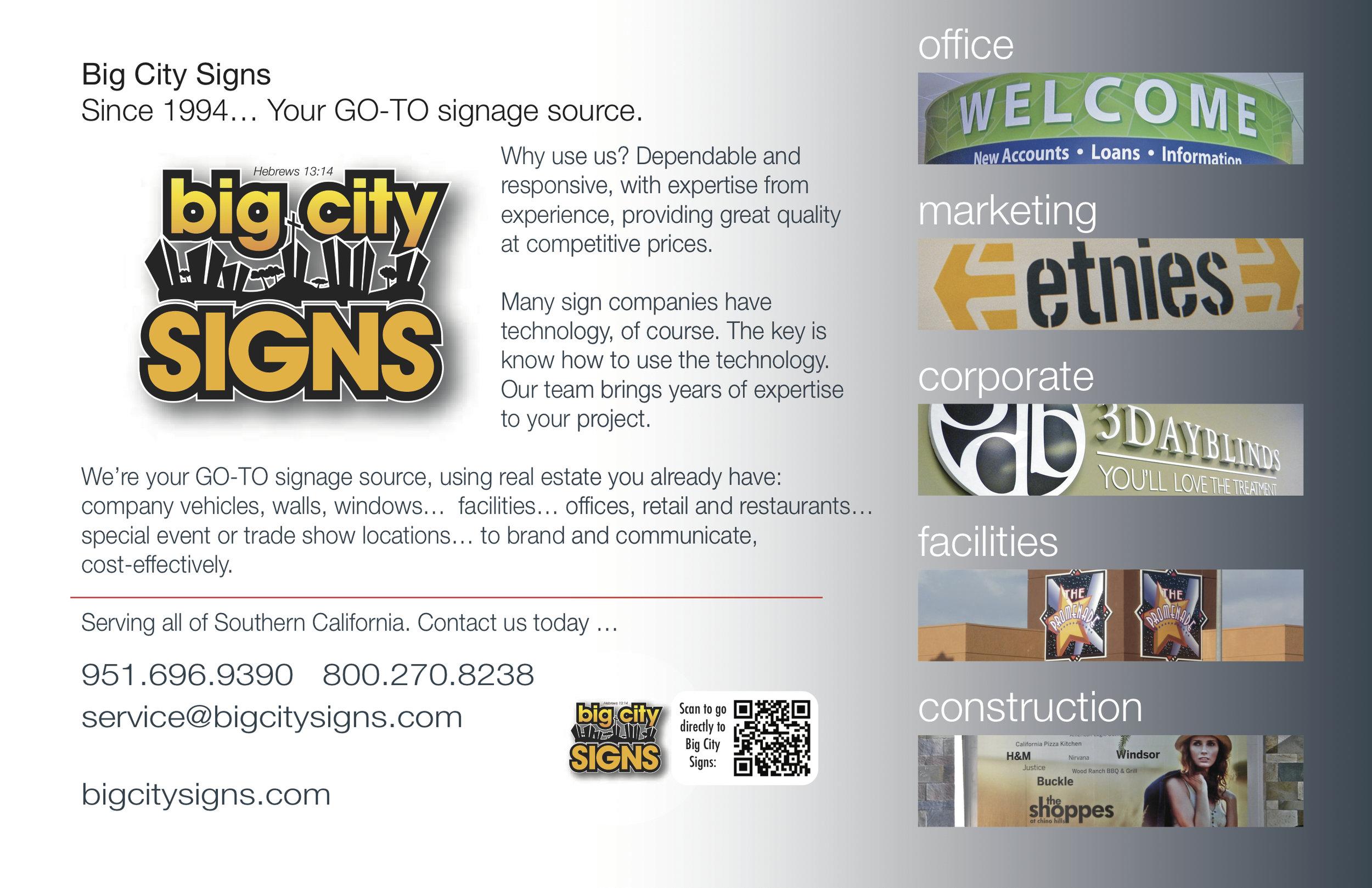 Big City Signs 2013-Brochure