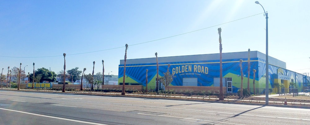 HAND PAINTED MURAL SUPERGRAPHICS - Golden Road Brewing Anaheim CA