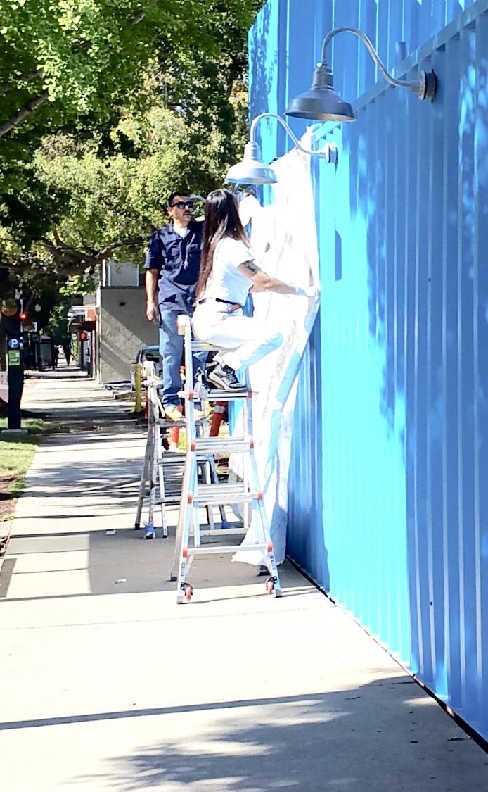 Golden Road Brewing Sacramento - hand painting progress