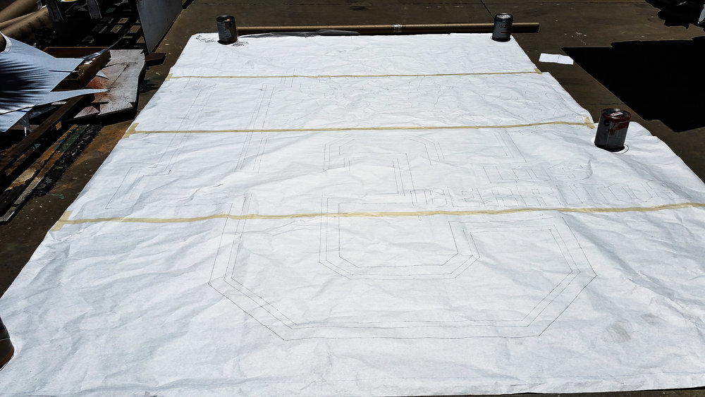 HAND PAINTED SCHOOL MASCOT MURAL - paper pattern