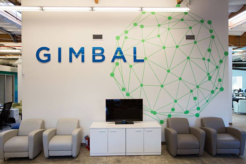 Gimbal office reception signage