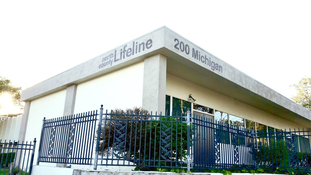 North County Lifeline painted sign