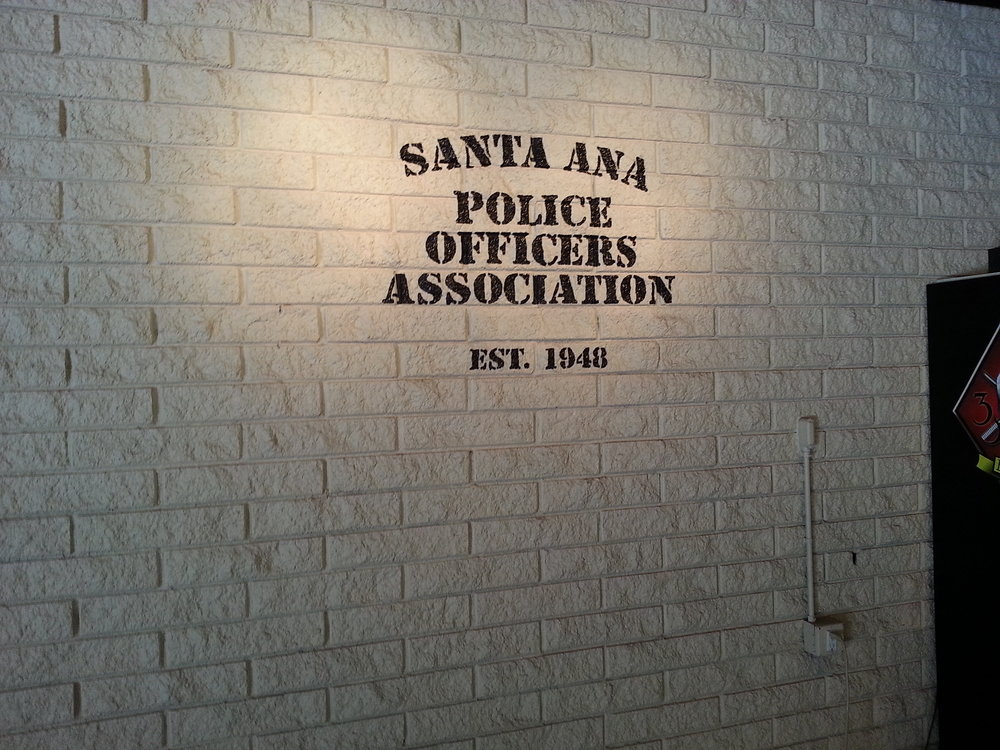 SAPOA interior hand painted lettering sign mural