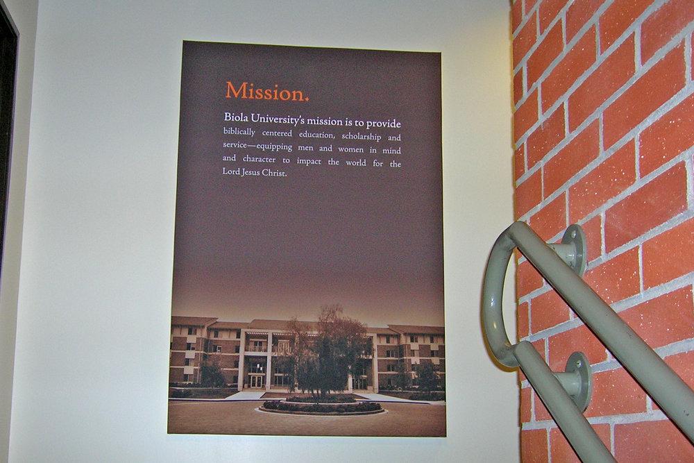 Biola University administration office gallery wrap canvas print