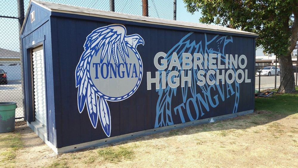 Gabrielino High School Baseball hand painted school sports mural
