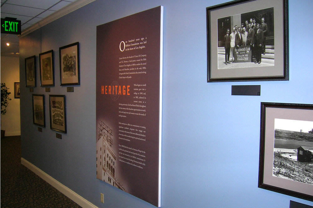 Biola University printed canvas gallery wrap wall display