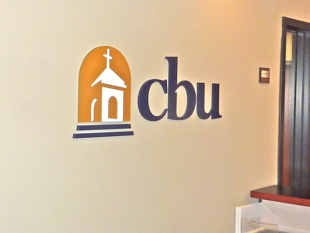 California Baptist University dimensional reception logo