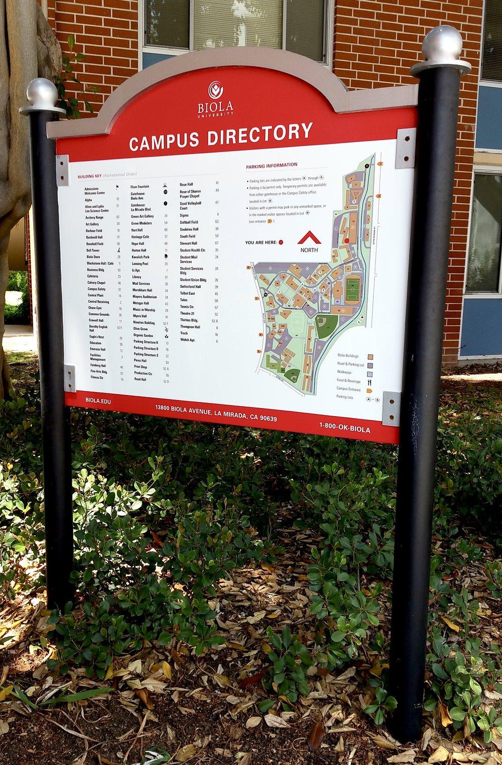 Biola University campus directory
