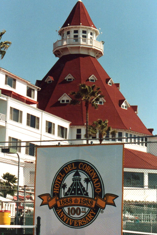 Hand painted 100th anniversary banner Hotel del Coronado